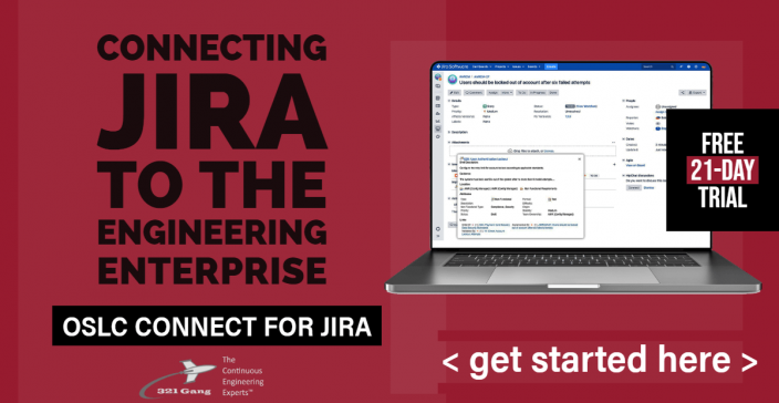 Trial Eval - OSLC Connect for Jira - 321Gang